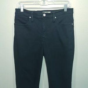 "Madewell 9"" Mid-Rise Skinny Jeans Lunar Black 28"